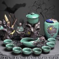 Kung Fu Tea pottery no Complete set of kungfu tea set 6 people Self made pictures Complete set of kungfu tea set Dehua County Shangyanfang Chinese style yes Retro style
