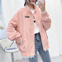 short coat Spring 2021 M, L Blue, white, black, pink Long sleeves routine routine singleton  Bat type commute raglan sleeve stand collar zipper 18-24 years old Allie Aixi 30% and below other