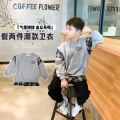 Sweater / sweater Other / other grey male 90cm,100cm,110cm,120cm,130cm,140cm,150cm spring and autumn nothing Korean version Socket routine There are models in the real shooting Pure cotton (100% cotton content) Solid color