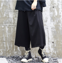 Casual pants Others other Black Capris, black Capris Average size routine Ninth pants Other leisure easy High shot X025P90 summer teenagers tide 2019 middle-waisted horn Cotton 65% pet 32% viscose 3% Haren pants Asymmetry No iron treatment other other cotton cotton 80% (inclusive) - 89% (inclusive)