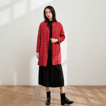 shirt Red and black check S M L XL Winter 2020 cotton 51% (inclusive) - 70% (inclusive) three quarter sleeve commute Medium length other Single row multi button raglan sleeve stripe 35-39 years old Straight cylinder Pukka / PU Pai literature D314106 Cotton 64.4% flax 26.4% metal fiber 9.2%