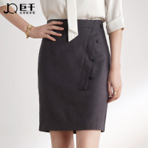 skirt Summer 2020 S M L XL XXL XXXL grey Middle-skirt commute High waist skirt Solid color Type H 25-29 years old 51% (inclusive) - 70% (inclusive) other JQ / juqian polyester fiber Asymmetric button zipper stitching Korean version Same model in shopping mall (sold online and offline)