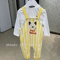 suit Other / other Yellow strap pants one piece suit 90 (about 6-12 months), 100 (about 12-20 months), 110 (about 2-3 years old) 12 months, 9 months, 18 months, 2 years, 3 years Chinese Mainland