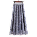 skirt Summer 2020 Average size grey longuette gorgeous High waist Fairy Dress Solid color Type A 25-29 years old 6755 calamus 81% (inclusive) - 90% (inclusive) brocade Willful Diao Hu nylon Embroidery, Sequin, gauze net, thread decoration, splicing 101g / m ^ 2 (including) - 120g / m ^ 2 (including)