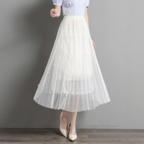 skirt Summer 2021 Average size BEIGE BLACK longuette commute Natural waist Solid color Type H 25-29 years old SXDQ2l032 More than 95% Paradise of awakening polyester fiber Three dimensional decorative lace lady Polyester 100% Pure e-commerce (online only)