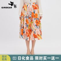 skirt Spring 2021 S M L pollen Mid length dress grace High waist Umbrella skirt Broken flowers Type A 30-34 years old 8200053-1 More than 95% Girdard / brother-in-law polyester fiber Polyester fiber 99.1% metal coated fiber 0.9% Same model in shopping mall (sold online and offline)