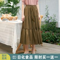skirt Winter of 2019 S M L Middle-skirt commute High waist Umbrella skirt Solid color Type A 30-34 years old More than 95% Girdard / brother-in-law polyester fiber Bandage Polyester 96.8% polyurethane elastic fiber (spandex) 3.2% Same model in shopping mall (sold online and offline)