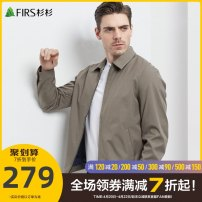 Jacket Firs / Cunninghamia lanceolata Business gentleman khaki 160/80A/S 165/84A/M 170/88A/L 175/92A/XL 180/96A/XXL 185/100A/XXXL 190/104A/XXXXL 195/108A/XXXXXL routine standard go to work spring FT1103TM065 Polyester 100% Long sleeves Wear out Lapel Business Casual middle age Zipper placket