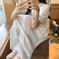 Dress Summer 2021 white Average size Middle-skirt singleton  Short sleeve commute Crew neck High waist Solid color Socket A-line skirt other Others 18-24 years old Type A Other / other Korean version 31% (inclusive) - 50% (inclusive) other other