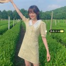 Dress Summer 2021 Blue, light yellow Average size Short skirt singleton  Short sleeve commute stand collar High waist Broken flowers Three buttons A-line skirt routine Others 18-24 years old Type A Korean version H0328 31% (inclusive) - 50% (inclusive) other other
