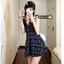 Dress Summer 2021 Picture color S,M,L Short skirt singleton  Sleeveless commute High waist Broken flowers Socket A-line skirt Others 18-24 years old Type A Korean version H0330 31% (inclusive) - 50% (inclusive) other other