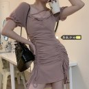 Dress Summer 2021 Black, pink M, L Short skirt singleton  Short sleeve commute square neck High waist Solid color Socket A-line skirt Lotus leaf sleeve Others 18-24 years old Type A Korean version Pleating H0325 31% (inclusive) - 50% (inclusive) other other