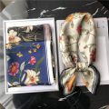 Scarf / silk scarf / Shawl polyester Spring and autumn, summer and winter female Scarves / scarves multi-function Korean version Small square towel Middle aged youth Plants and flowers printing 70cm 70cm Pouie / Peier Spring of 2019