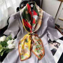 Scarf / silk scarf / Shawl polyester Red and blue in summer yellow and green in summer blue and green in summer Spring and summer female Scarves / scarves multi-function Korean version Large square towel Student youth middle age Ink painting / oil painting printing 90cm 90cm Pouie / Peier Spring 2020