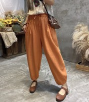 Casual pants White, off white, black, orange, green, coffee Average size Spring 2021 trousers Haren pants commute routine