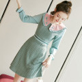 Dress Autumn 2020 Picture color S M L XL Middle-skirt singleton  Long sleeves commute Doll Collar middle-waisted Solid color zipper A-line skirt Lotus leaf sleeve Others 25-29 years old Type A City of fragrance Korean version AF07504 More than 95% polyester fiber Pure e-commerce (online only)