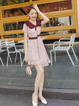 Dress Summer of 2019 Picture color S M L XL Middle-skirt singleton  Short sleeve street other middle-waisted Socket A-line skirt routine Others 18-24 years old Type X City of fragrance AF6832 More than 95% polyester fiber Polyethylene terephthalate (polyester) 100% Pure e-commerce (online only)
