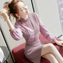 Dress Winter 2020 Picture color S M L XL Middle-skirt singleton  Long sleeves commute other middle-waisted Solid color zipper A-line skirt Others 25-29 years old Type A City of fragrance Korean version AF07604 More than 95% polyester fiber Polyester 100% Pure e-commerce (online only)