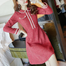 Dress Winter of 2018 Picture color S M L XL Middle-skirt singleton  Long sleeves commute Doll Collar Solid color Socket Big swing routine Others 25-29 years old Type A City of fragrance Korean version 71% (inclusive) - 80% (inclusive) polyester fiber Pure e-commerce (online only)