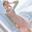 Dress Winter 2020 Picture color S M L XL Middle-skirt singleton  Long sleeves commute Crew neck High waist Solid color zipper A-line skirt routine Others 25-29 years old Type A City of fragrance Korean version More than 95% polyester fiber Polyester 100% Pure e-commerce (online only)