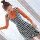 Dress Winter 2020 Two piece set S M L XL Middle-skirt Two piece set Long sleeves commute stand collar middle-waisted lattice Socket A-line skirt routine Others 25-29 years old Type A City of fragrance Korean version More than 95% polyester fiber Polyester 100% Pure e-commerce (online only)