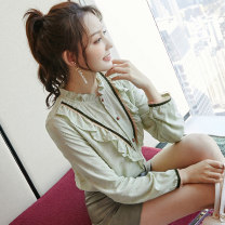 Lace / Chiffon Spring 2020 Picture color S M L XL Long sleeves commute Socket singleton  easy Regular other routine 18-24 years old City of fragrance AF7134 Korean version Cotton 50% pet 45% others 5% Pure e-commerce (online only)