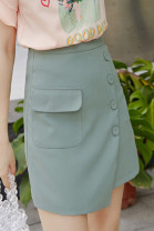 skirt Autumn of 2019 S M L XL skirt Middle-skirt commute Natural waist A-line skirt Solid color Type X 18-24 years old AF6852 More than 95% City of fragrance polyester fiber Korean version Polyethylene terephthalate (polyester) 100% Pure e-commerce (online only)