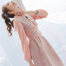 Dress Winter 2020 Picture color S M L XL Middle-skirt singleton  Long sleeves commute Crew neck middle-waisted Solid color zipper Big swing routine Others 25-29 years old Type A City of fragrance Korean version AF07577 More than 95% polyester fiber Polyester 100% Pure e-commerce (online only)