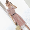 Dress Summer 2020 Picture color S M L XL Middle-skirt singleton  Short sleeve commute Crew neck middle-waisted Dot Socket A-line skirt routine Others 25-29 years old Type X City of fragrance Korean version More than 95% polyester fiber Polyester 100% Pure e-commerce (online only)