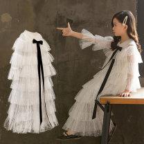 Children's dress White (with big Pearl) H02 vest H02 cotton lining H02 Plush female 110cm 120cm 130cm 140cm 150cm 160cm 170cm Osfans / osvance full dress A26 Class B pure cotton Cotton 84.5% rayon 15.5% Spring of 2019