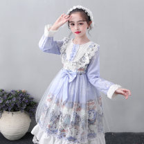 Dress female Osfans / osvance 110cm 120cm 130cm 140cm 150cm 160cm 170cm Polyester 100% winter princess Long sleeves Broken flowers other A-line skirt LA2008 Class B Autumn 2020 Chinese Mainland Guangdong Province Shantou City