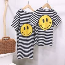 Parent child fashion Women's dress female Other / other spring and autumn Korean version routine Solid color other Other 100% Chinese Mainland