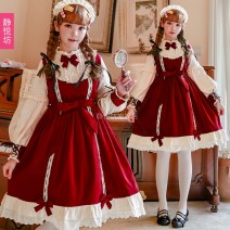 Dress Spring 2020 OP dress (without skirt support) collection order free headdress S M L Mid length dress singleton  Long sleeves Princess Dress 18-24 years old Type A Jingyuefang 31% (inclusive) - 50% (inclusive) cotton Cotton 50% polyethylene terephthalate (polyester) 50%