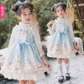 Dress Suspender dress with long sleeves female Jingyuefang S/100cm M/110cm L/120cm XL/130cm 2XL/140cm 3XL/150cm 155cm 160cm 165cm Polyester 100% No season Britain Skirt / vest other Pleats