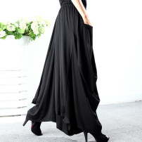 Casual pants The length of black pants is 98 cm, and the length of black tall pants is 104 cm Average size Spring of 2019 trousers Wide leg pants High waist original routine 40-49 years old YW19S0037 yiwaiych fold Pure e-commerce (online only)