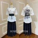 Fashion suit Summer 2021 L,M,S White star bat top with lace skirt suit