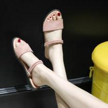 Sandals 35 36 37 38 39 40 Beige upgrade pink upgrade black upgrade BEIGE BLACK Furrezio / furizi Suede Barefoot Flat bottom Low heel (1-3cm) rubber PU