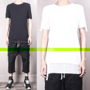 T-shirt Fashion City Black, white thin XL,L,M,S Short sleeve Crew neck Self cultivation Other leisure Four seasons