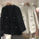 suit Autumn of 2019 White, black, black thickened cotton, white thickened cotton S,M,L,XL,2XL Long sleeves routine easy Crew neck Buckle commute routine lattice 51% (inclusive) - 70% (inclusive) other Pockets, buttons, stitching