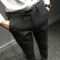 Casual pants T-Nnc Fashion City 28 29 30 31 32 33 34 36 routine trousers Other leisure Self cultivation get shot Four seasons youth Exquisite Korean style 2016 Medium low back Little feet Polyester 68% viscose 29% polyurethane elastic 3% Tapered pants No iron treatment Solid color polyester fiber