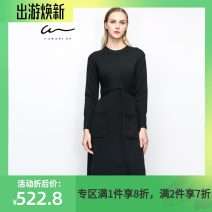 Dress Autumn 2016 Black B1 AS AM XM Mid length dress commute 30-34 years old Cara  Simplicity KB163MKO0037 81% (inclusive) - 90% (inclusive) wool Wool 89.6% Cashmere 10.4%