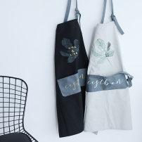 apron Black, gray, white Sleeveless apron antifouling Korean version pure cotton RZ096 Go to daily life public like a breath of fresh air