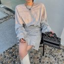 Sweater / sweater Spring 2021 White, black, grey S, M Long sleeves Medium length Socket singleton  routine Crew neck easy commute puff sleeve Solid color 96% and above Other / other Korean version cotton thread cotton Cotton liner
