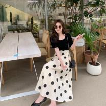 Fashion suit Summer 2021 M, L Top, skirt 6du shop 1T4302 30% and below