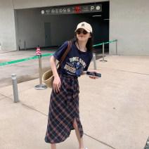 Fashion suit Summer 2021 S,M,L T-shirt, skirt 6du shop 1T4202 30% and below