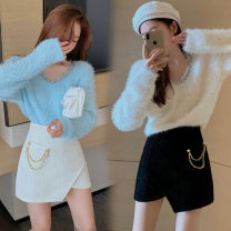 Fashion suit Winter 2020 S. M, l, average size White sweaters, blue sweaters, black skirts and apricot skirts are sold separately 18-25 years old One point nine