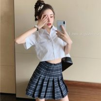Fashion suit Spring 2021 Average size Shirt, skirt s, Skirt M 18-25 years old two point two six cotton