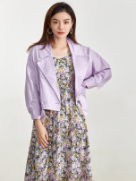 short coat Spring 2021 S,XS,M,XL,2XL,L,3XL,4XL White, purple, pink Long sleeves routine routine singleton  Versatile routine tailored collar Single row two buttons 30-34 years old 9 Charms 9m
