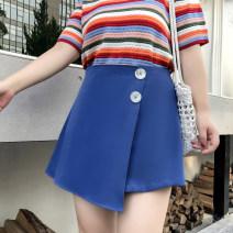 Women's large Spring 2021 Black, blue, watermelon red Large L, large XL, large XXL, large XXL, large XXXL skirt singleton  commute thin Korean version 100% of large size