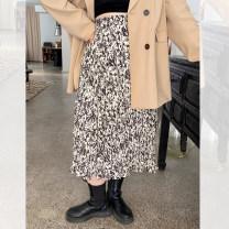 Women's large Spring 2021 Apricot white Large XL, large XXL, large XXL skirt singleton  commute thin Korean version